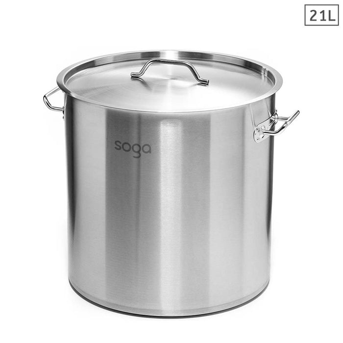 Stock Pot 21L Top Grade Thick Stainless Steel Stockpot 18/10