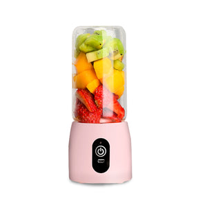 Portable Mini USB Rechargeable Handheld Juice Extractor Fruit Mixer Juicer Pink