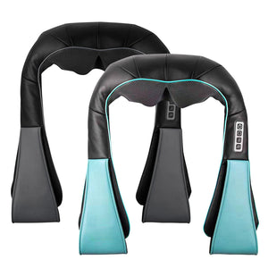 2X Electric Kneading Back Neck Shoulder Massage Arm Body Massager Black/Blue