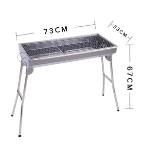 Skewers Grill Portable Stainless Steel Charcoal BBQ Outdoor 6-8 Persons