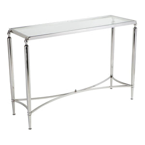 Jak Glass Console Table - Nickel