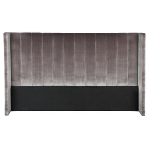 Central Park King Bedhead - Charcoal Velvet