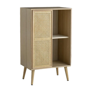 Sliding Rattan Compartment Cabinet