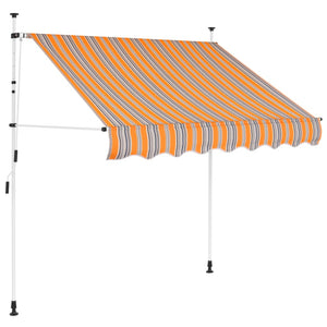Manual Retractable Awning 150 cm Yellow and Blue Stripes
