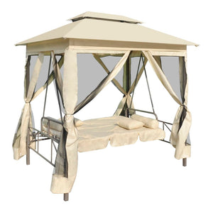 Gazebo Convertible Swing Bench Cream White