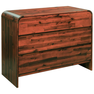 Chest of Drawers Solid Acacia Wood 90x37x75 cm