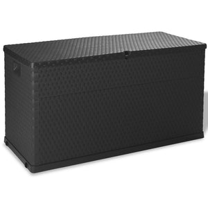 Garden Storage Box Anthracite 120x56x63 cm