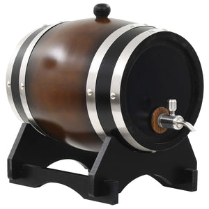 Wine Barrel with Tap Solid Pinewood 6 L sku 50683