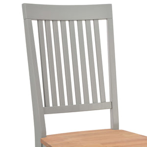 Dining Chairs 2 pcs Grey Solid Oak Wood