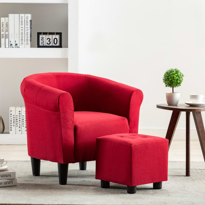 Armchair Wine Red Fabric