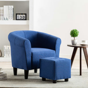 Armchair Blue Fabric sku 248029