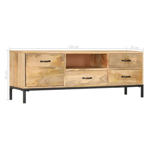 TV Cabinet 130x30x45 cm Solid Mango Wood