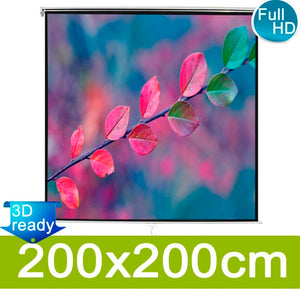 Manual Projection Screen 200x200 Mat White