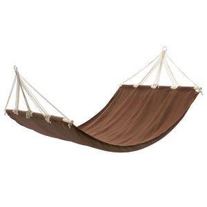 Hammock with Bar 210 x 150 cm Brown