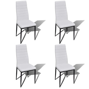 Dining Chairs 4 pcs White Faux Leather sku-241499