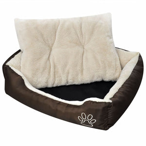 Warm Dog Bed with Padded Cushion S sku-170203