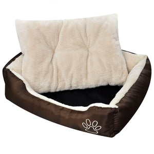 Warm Dog Bed with Padded Cushion M sku-170204