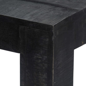 Dining Table Black 140x80x76 cm Solid Mango Wood