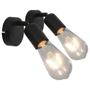 Spot Lights 2 pcs Black E27