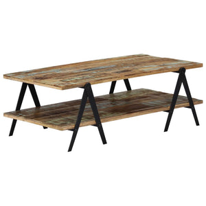 Coffee Table 115x60x40 cm Solid Reclaimed Wood