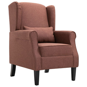 Armchair Brown Fabric sku 248617