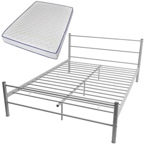 Bed Frame with Memory Foam Mattress Double Size