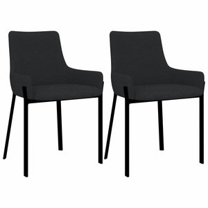 Dining Chairs 2 pcs Black Fabric sku 282595
