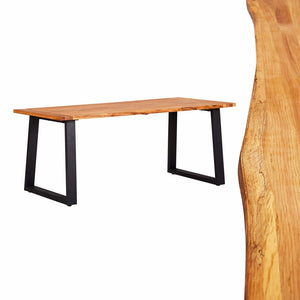 Dining Table Natural 180x90x75 cm Solid Oak Wood