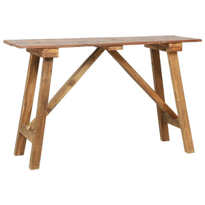 Console Table 130x40x80 cm Solid Reclaimed Wood - sku 283916