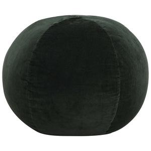 Pouffe Cotton Velvet 50x35 cm Green