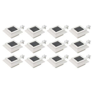 Outdoor Solar Lamps 12 pcs LED Square 12 cm White