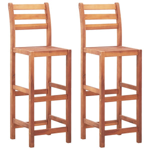 Bar Chairs 2 pcs Solid Acacia Wood sku 46314
