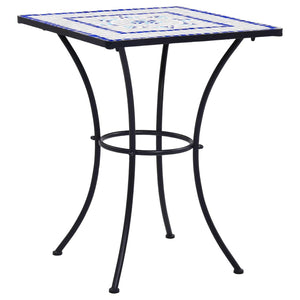 Mosaic Bistro Table Blue and White 60 cm Ceramic