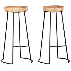 Bar Stools 2 pcs Solid Acacia Wood sku 287352