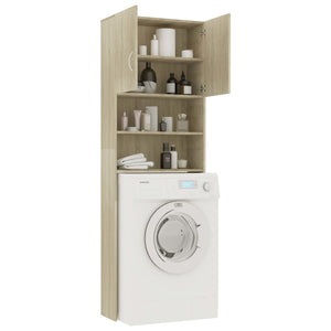 Washing Machine Cabinet Sonoma Oak 64x25.5x190 cm Chipboard sku 801673