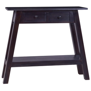 Console Table Light Black Coffee 90x30x75cm Solid Mahogany Wood
