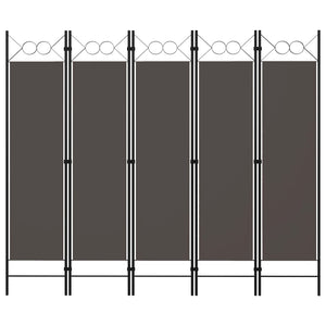 5-Panel Room Divider Anthracite 200x180 cm sku 320709