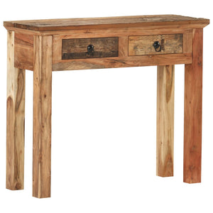 Console Table 90.5x30x75cm Solid Acacia Wood and Reclaimed Wood - sku 320381