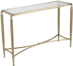 Jak Glass Console Table - Gold