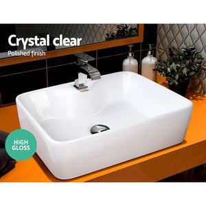 Cefito Ceramic Rectangle Sink Bowl - White