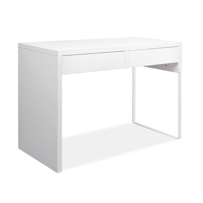 Artiss Metal Desk with 2 Drawers - White