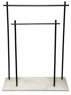 Moose Towel Rack White and Black