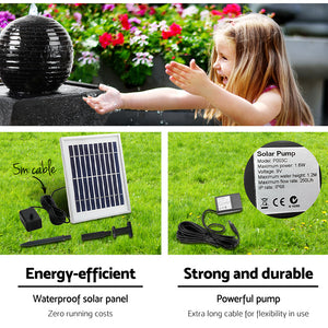 Gardeon Solar Powered Water Fountain Twist Design with Lights