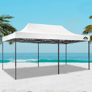 Instahut Gazebo Pop Up Marquee 3x6m Outdoor Tent Folding Wedding Gazebos White