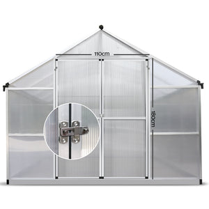 Greenfingers Greenhouse Aluminium Green House Garden Shed Greenhouses 4.1x2.5M