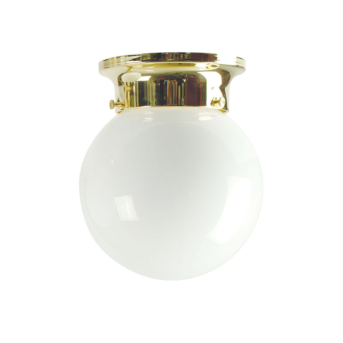 JETBALL 15 Brass - DIY Glass Ceiling Light with opal Glass