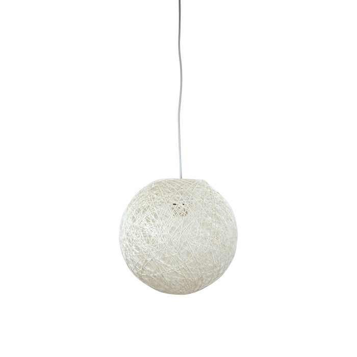 KONO 30 Antique White - White Painted String Pendant