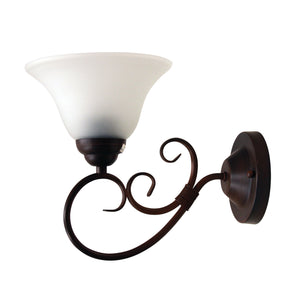 GASTON WALL - Bronze Traditional Frost wall light