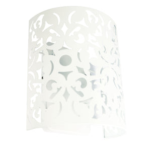 VICKY WALL LIGHT White - Laser Cut Metal Wall Mounted Light