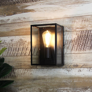 EATON WALL - Urban Retro Wall Light with Clear Glass